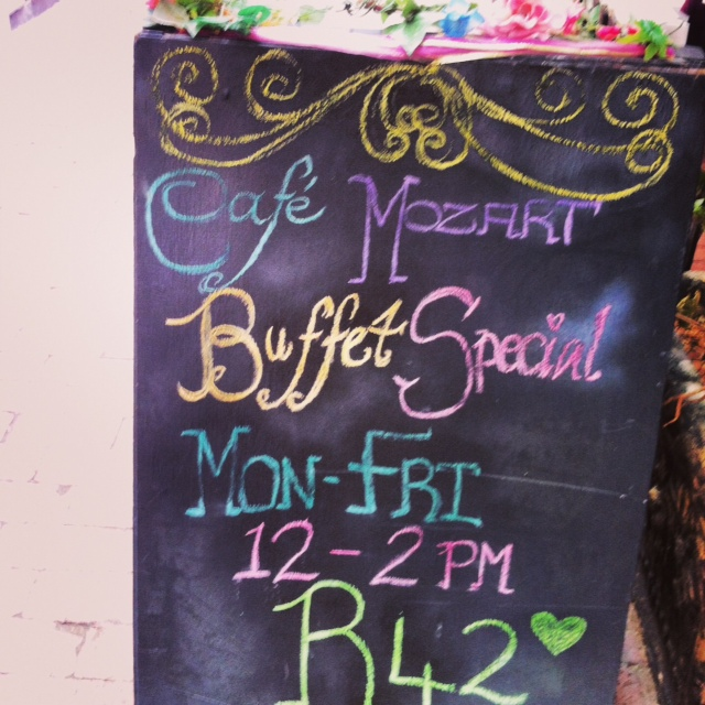 cafe mozart blackboard