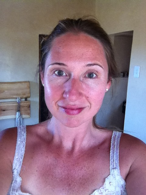 Me in Montagu. 43 years old, no makeup, no highlights, sun damage and laugh lines. It's okay. It's me in Montagu.